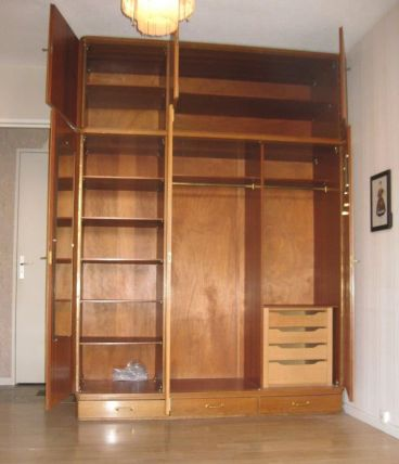 Grande armoire penderie années 60