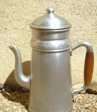 cafetière ancienne en alu ,vintage