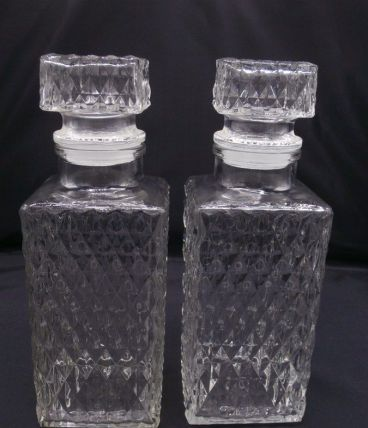 Duo de carafes à whisky