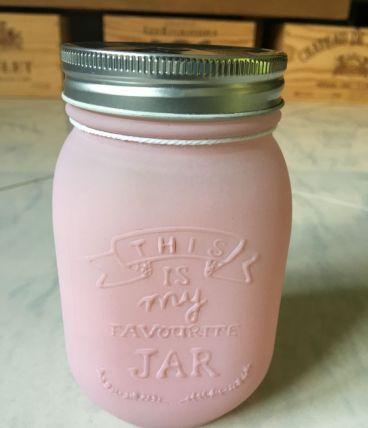 Jar/bocaux rose clair