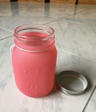 Jar/bocaux rose foncé