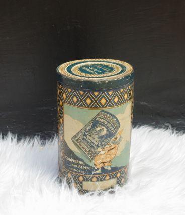 Rare boite métal 1910 Confiserie des Alpes Caramel