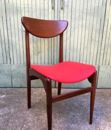 Chaise scandinave vintage années 60