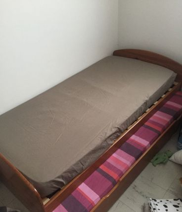 lit en hêtre 1 PLACE