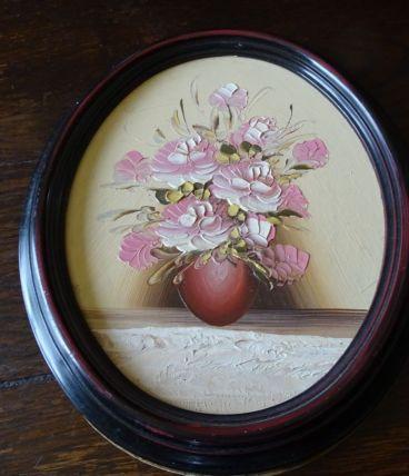 cadre avec décor floral