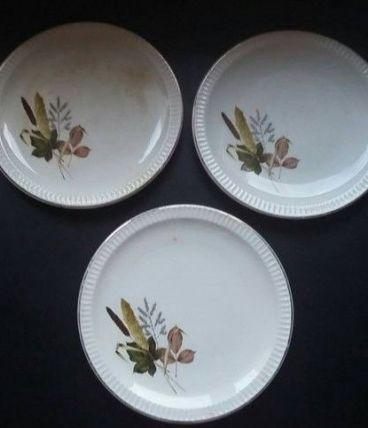 3 assiettes Sarreguemines modèle Juliette