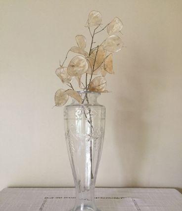 Vase en verre taillé