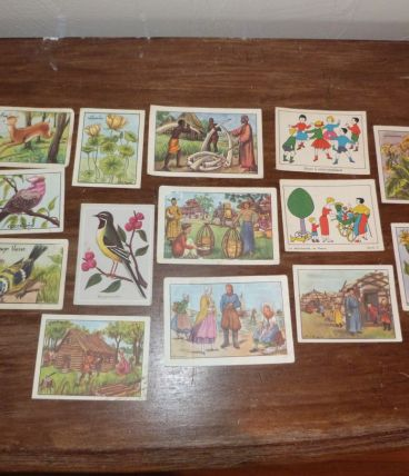 Lot de 65 images bon point anciennes