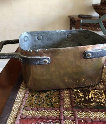 Ensemble plats en cuivre