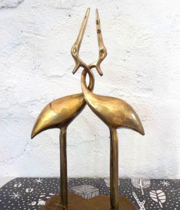 Couple Oiseaux laiton