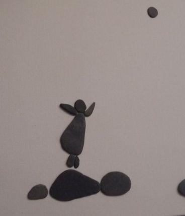 cadre petite fille avec la lune
