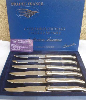 coffret  6 couteaux de table  Laguiole
