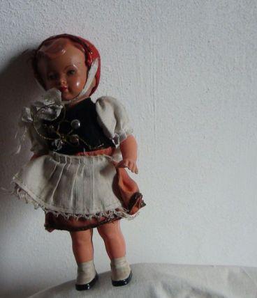 poupée celluloïd année 1950 mécanique