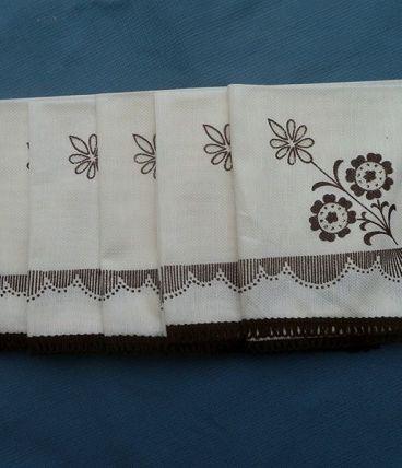 lot de 6 serviettes de table ,vintage