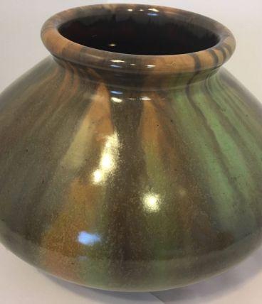 Vase Grès Flammé Art Nouveau Faïencerie De Bouffioulx 9528