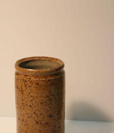 Vase rouleau en grès émaillé
