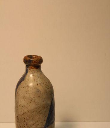 Soliflore  en grès émaillé gris bleu