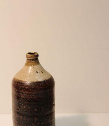 Soliflore en grès émaillé bicolore