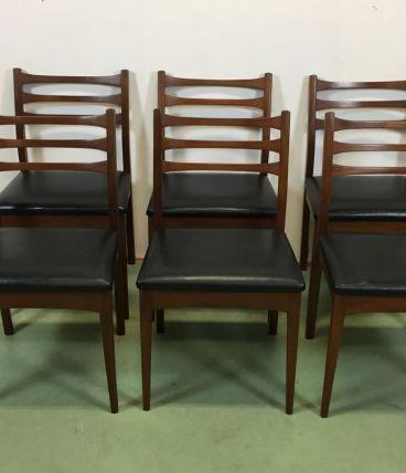 Suite de 6 chaises vintages