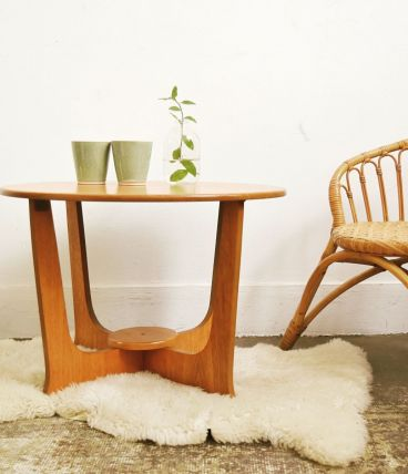 Table de salon scandinave vintage en teck