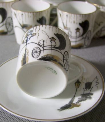 Tasses à café Moka Limoges Signé Création