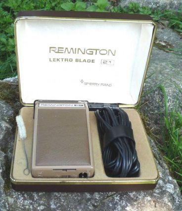 Ancien rasoir électrique Remington Lektro Blade 21 années 60