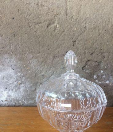 Sucrier en verre taillé