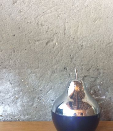 Sucrier en forme de poire en verre vintage