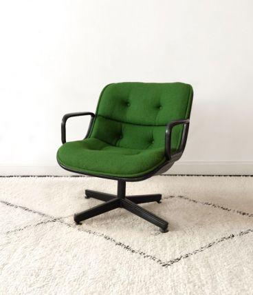 Rare chauffeuse design Charles Pollock KNOLL