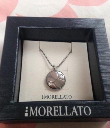 Collier Morellato ballon de foot acier et diamant