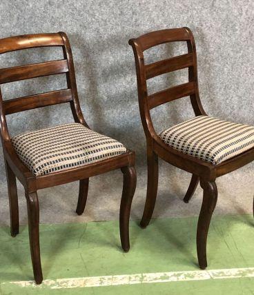 Paire de chaises en acajou époque Restauration