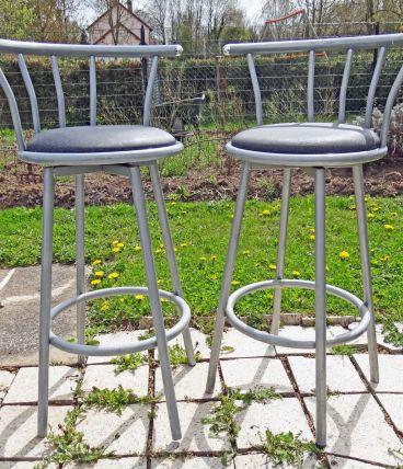 Paire de chaises de bar en métal
