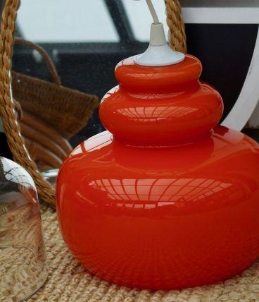 Lustre seventies opaline orange