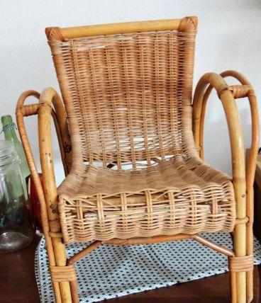 fauteuil en rotin enfant