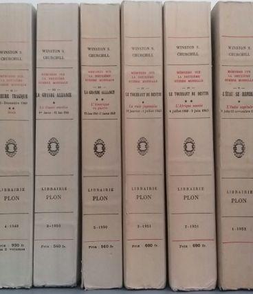 Mémoires W. CHURCHILL - 12 volumes - Éditions PLON