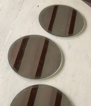 Miroirs ronds X3 bords pailletés