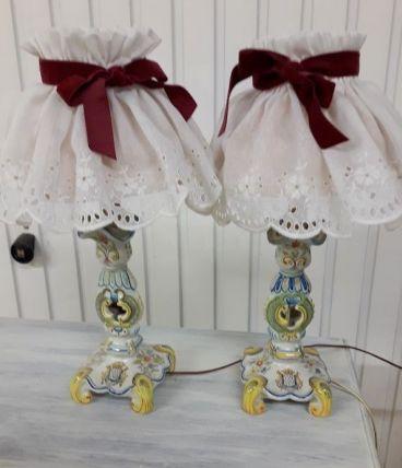paire de lampe porcelaine Amavie