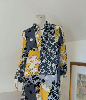 Robe tunique pour les fêtes imprimé coloré T 40 neuve