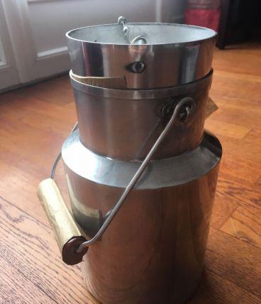 Pot à lait aluminum 3l des années 50