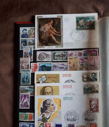 2 albums timbres anciens france et europe