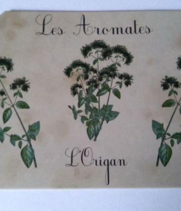 plaque métal rétro  Les aromates