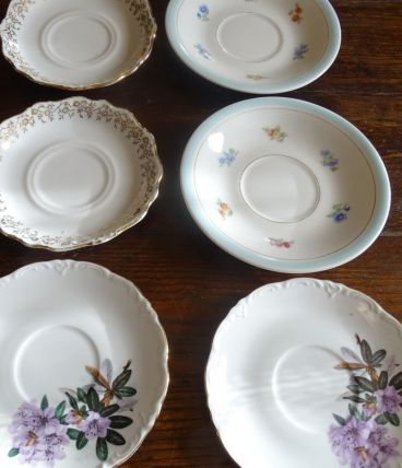 lot 6 soucoupes