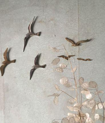 Oiseaux en laiton