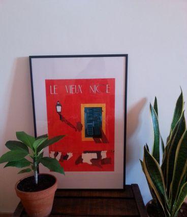 Affiche Illustration aux feutres - Le vieux Nice -