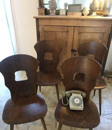 Suite 4 Chaises Bistrot Vintage Baumann Gentiane