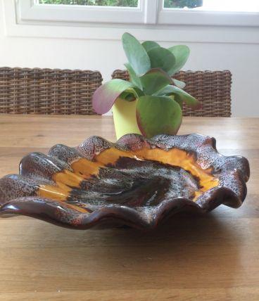 Grand plat en céramique de Vallauris