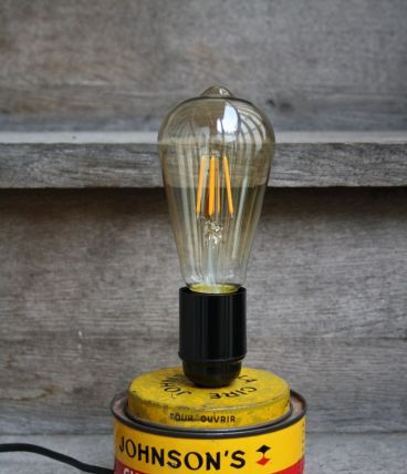 "LAMPE RECUP' ""CIRE JOHNSON"""