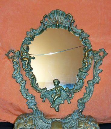 Ancienne Glace de table sur pied Style Louis XV