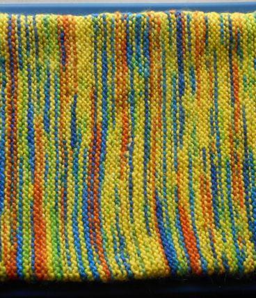 Couverture tricotée pour panier d'un animal
