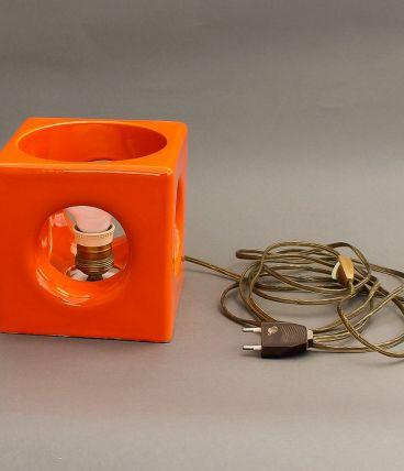 Lampe vintage orange année 70
